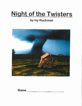 Night of the Twisters Novel packet