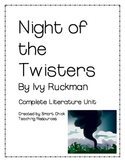Night of the Twisters, by I Ruckman, Complete Literature Unit ~ 71 pgs.