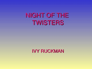 Night of the Twisters by Ivy Ruckman Preview/Introduction