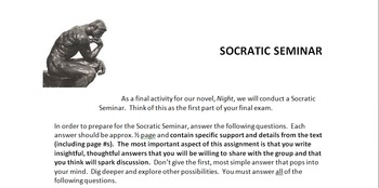 Night socratic seminar questions and guidelines