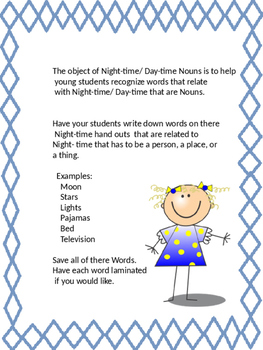 Night-time/ Day-time Nouns Class Project