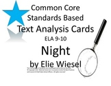 Night Literary Analysis Task Cards : CCSS : ELA 9-10