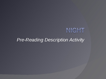 Night_Pre-reading_Descriptive Pictures and activity
