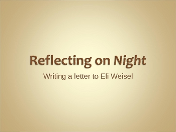 Night_Writing a Letter to Elie