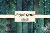 Nightfall Glimmer Digital Paper Textures