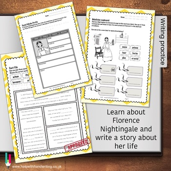 Nightingale writing sheets