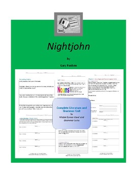 Nightjohn Complete Literature and Grammar Unit