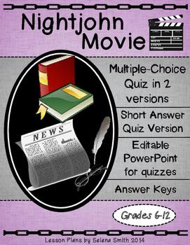 Nightjohn Movie Quiz