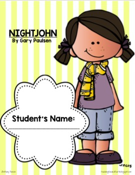 Nightjohn Novel Study {Complete with Vocab, Quizzes, and Answer Keys}