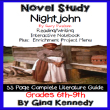 Nightjohn Novel Study & Project Menu; Plus Digital Option