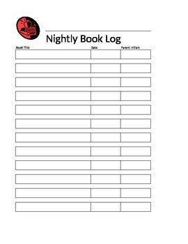 Nightly Book Log