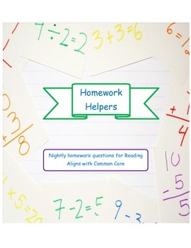 Nightly Homework Menu