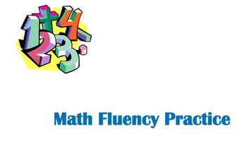 Nightly Math Fluency