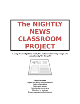Student Nightly News Video Project