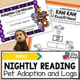 Nightly Reading BUNDLE:  Reading Logs and Reading Pet Adoption