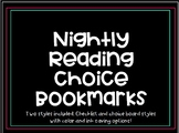 Nightly Reading Choice Bookmarks (TWO STYLES INCLUDED!)