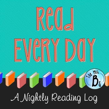 Read Every Day - Nightly Reading Log