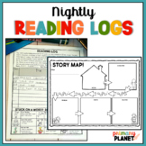 Nightly Reading Log Homework with Reading Response Sheets