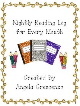 Nightly Reading Log for Every Month