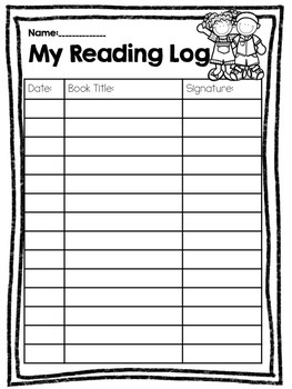 Nightly Reading Logs Packet