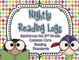 Nightly Reading Logs for EVERY 2nd Grade Common Core Reading Standard