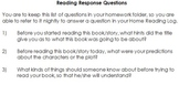 Nightly Reading Response Log & Questions