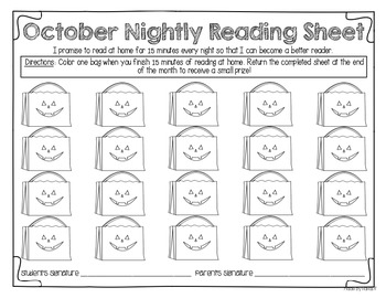 Nightly Reading Tracking Pages For a Whole Year!