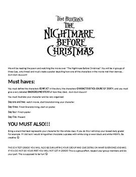 Nightmare Before Christmas Character Analysis