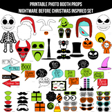 Nightmare Before Christmas Inspired Printable Photo Booth Prop Set