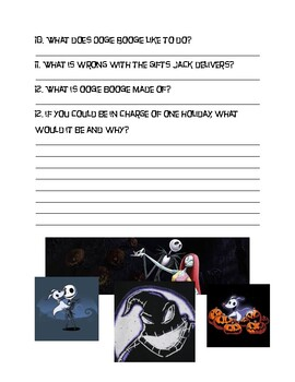 Nightmare Before Christmas Movie ESL Worksheet