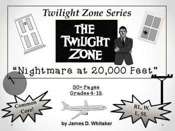 Nightmare at 20,000 Feet Twilight Zone Episode Unit Resource Common Core