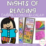 Nights of Reading Ladder & Certificates - Editable