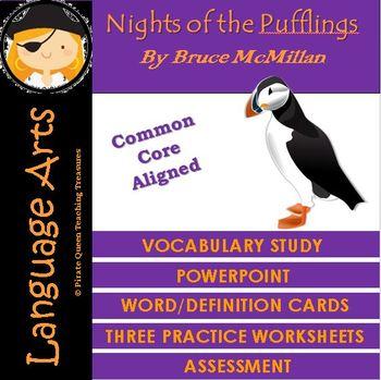 Nights of the Pufflings Vocabulary Activities