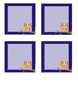 Nighttime Owl Classroom Theme