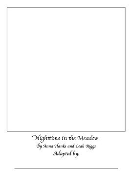 Nighttime in the Meadow Blank Book, Level II