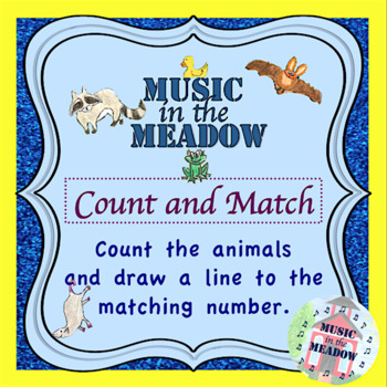 Nighttime in the Meadow Count and Match Worksheet