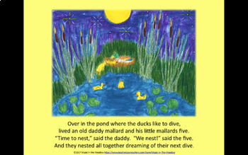 Nighttime in the Meadow Song Tale Ebook, with lyrics