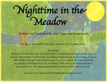 Nighttime in the Meadow Printable Song Tale Book