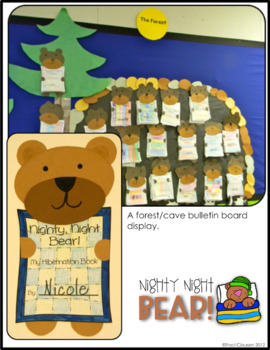 Forest Habitat - Hibernating Writing and Craft Activity - Nighty, Night Bear!