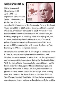 Nikita Khrushchev Handout