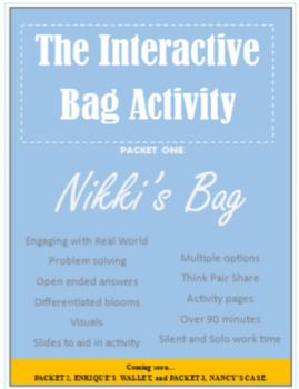 Inferring Activities: Nikki's Bag(Explore, Investigate, and Explain)