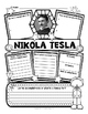 Nikola Tesla Research Organizers for Famous Inventors Research Projects