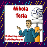 Nikola Tesla Coloring and Activity Book Pages - Good for D