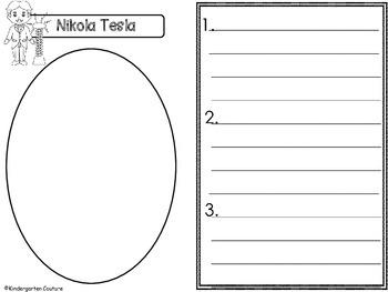 Nikola Tesla (Inventor Graphic Organizers)