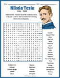 Nikola Tesla Word Search Puzzle