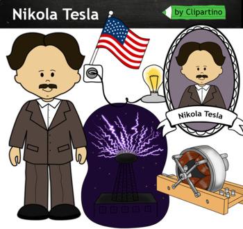Nikola Tesla clipart - inventors Clip Art