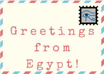 Nile River / Egypt  Postcard Template