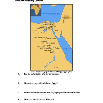 Egypt Nile River Teaching Resources Teachers Pay Teachers