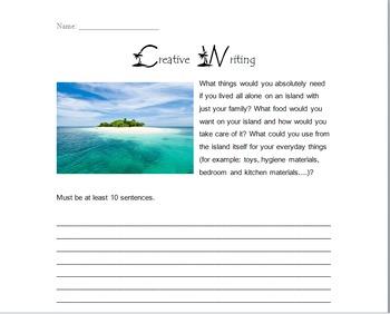 Nim's Island supplemental worksheets