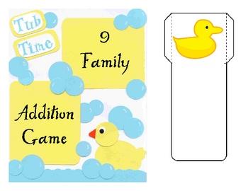 Nine Addition Fact File Folder Game